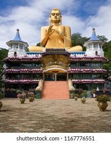Dambulla. Sri Lanka. 10.27.06. The Giant Buddha statue at the Golden Temple in Dambulla a part of the Cultural Triangle in Sri Lanka.