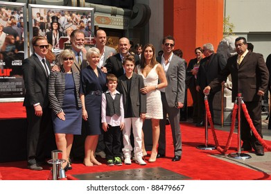 Dame Helen Mirren & family at Grauman's Chinese Theatre where she was honored by having her hand & footprints set in cement. March 28, 2011  Los Angeles, CA Picture: Paul Smith / Featureflash
