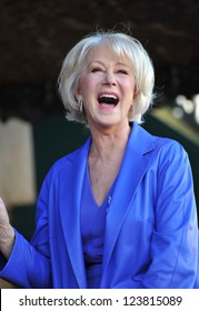 Dame Helen Mirren on Hollywood Boulevard where she was honored with the 2,488th star on the Hollywood Walk of Fame. January 3, 2013  Los Angeles, CA Picture: Paul Smith