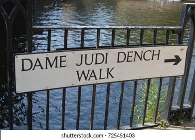 Dame judi dench walk by the river ouse