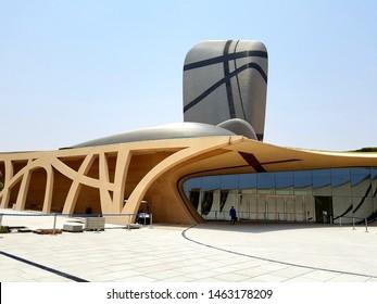Dammam, KSA, 24 July 19. Picture of The King Abdulaziz Center for World Culture a bold new initiative to promote cultural development within the Kingdom. Unique design.
