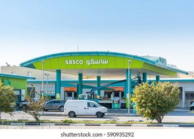 Dammam, Saudi Arabia, January 9th, 2017, A common gas station of at the corniche park, Dammam, Saudi Arabia
