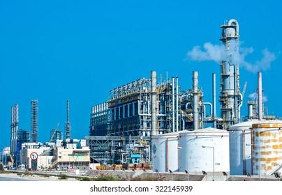 Dammam, Saudi Arabia - November 17 2008: The Jubail Industrial city