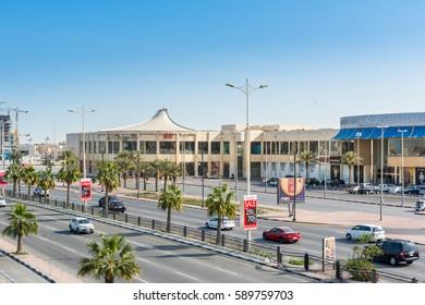 Damman, Saudi Arabia, January 9th, 2017, Marina mall, a famous and modern shopping plaza in Dammam city, Kingdom of Saudi Arabia
