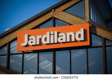 DAMMARIE LES LYS - FRANCE - JUNE 2020: JARDILAND signboard which is a famous firm of hotel in france