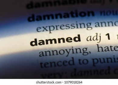 damned word in a dictionary. damned concept