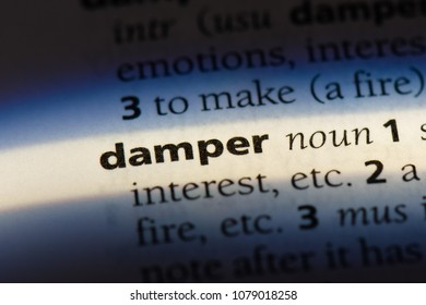 damper word in a dictionary. damper concept