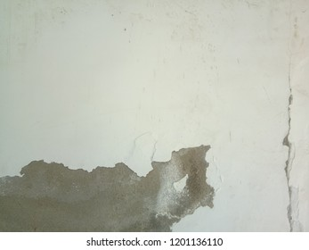 dampness and crack on wall, cracked wall,