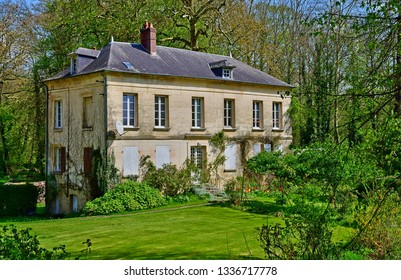Dampsmesnil, France - april 3 2017 : the picturesque village in spring