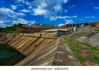 Dams and floodgates.