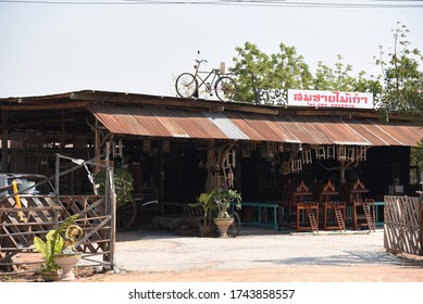 DAN KHUN THOT, THAILAND- JANUARY 25, 2019: small handcraft shop on January 25 2019 in Dan Khun Thot, Thailand