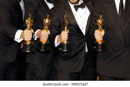 Dan Lemmon, Andrew R. Jones, Adam Valdez and Robert Legato at the 89th Annual Academy Awards - Press Room held at the Hollywood and Highland Center in Hollywood, USA on February 26, 2017.