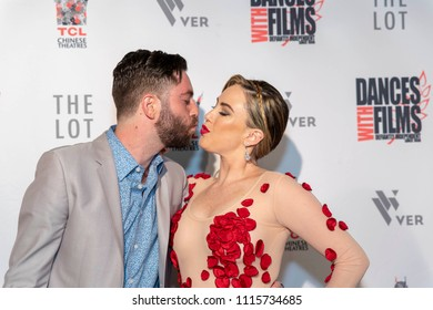 """Dan Levy Dagerman, Selina Ringel attend 2018 The Dances With Films Festival """"The Best People�  Premiere at the TCL Chinese Theater in Hollywood, California on June 17, 2018"""