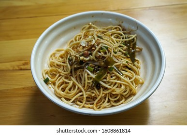 Dan Dan noodle, a spicy Szechuan cuisine dish commonly found in chinese street food.
