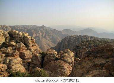 Dana Biosphere Reserve Mountains  in jordan - Mountains horizon in jordan