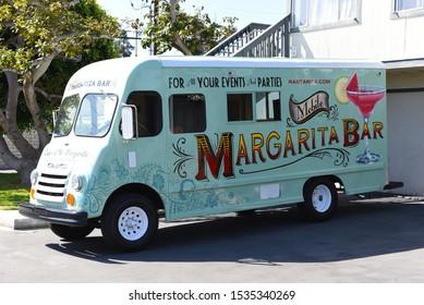 DANA POINT, CALIFORNIA - 18 OCT 2019: Rasta Rita Margarita Truck is a world famous mobile Margarita truck & beverage service.
