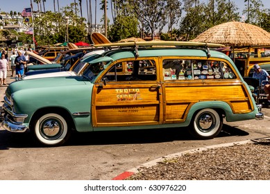 Dana Point, California - April 29, 2017. Woodie Club and Car Show. Ford Woodie