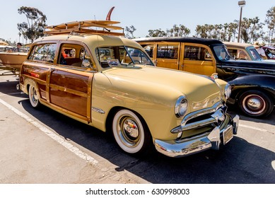 Dana Point, California - April 29, 2017. Woodie Club and Car Show. 1949 Ford.