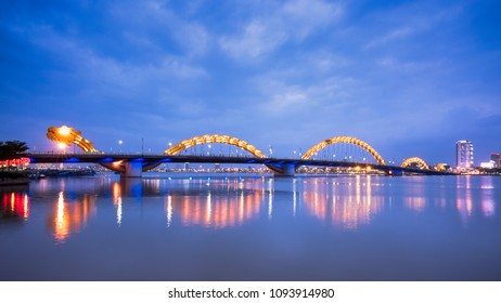 Danang has few conventional sightseeing spots, except for gleaming new modernist hotels and the Dragon Bridge, a stunningly quirky bridge that spans the river Han - Danang, Vietnam