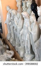 DANANG, VIETNAM  - FEB 4, 2015 - Marble statues of  the Virgin Mary, Danang,  Vietnam