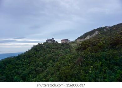 Danang , Vietnam - July 29,2018 : Beautiful scene of Bana Hills. Mercure Danang French Village Bana Hills