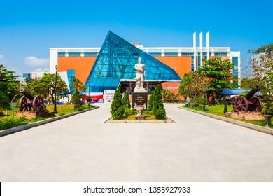 DANANG, VIETNAM - MARCH 18, 2018: Da Nang City Museum of Cham Sculpture or Bao Tang in Danang in Vietnam
