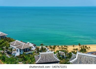 DANANG, VIETNAM - MARCH 24, 2014 : Seashore at InterContinental Danang Sun Peninsula Resort, Vietnam