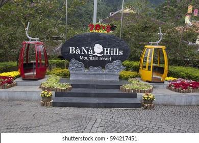 DANANG,VIETNAM, -JUNE 19, 2017:Entrance to the amusement and theme park Bana hill, Danang, Vietnam, Asia