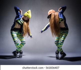 Dance Battle among teenagers