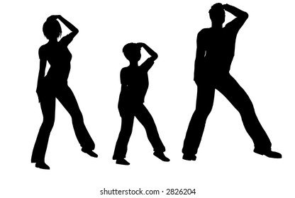 dance family vector