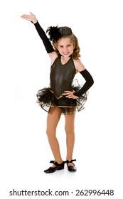 Dance: Girl Tap Dancer in Fancy Costume