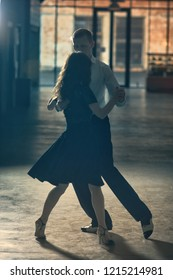 Dance tango pose for two people
