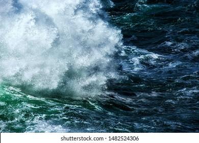 Dance of waves. Somalia coast line.