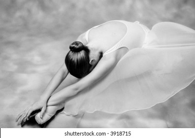 Dancer of classical ballet in pose