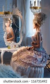 Dancer in the dressing room