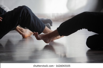 dancer foot, contact improvisation jam