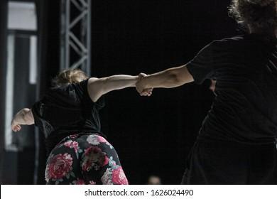 dancer hand, contemporary dance performance, contact improvisation
