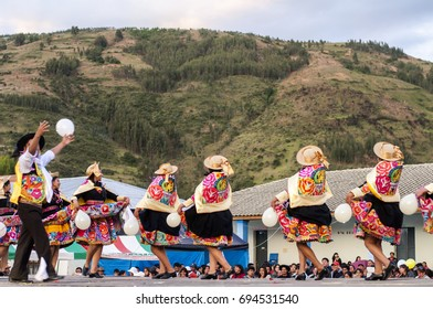 Dancer of Huaylarsh - Pucara - Huancayo, Peru. February 19, 2015