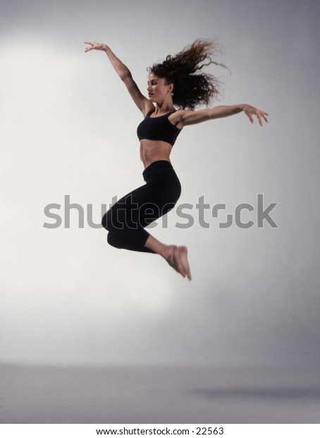 Dancer Jumping into the air