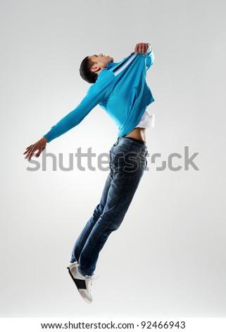 Dancer Pulls Himself Off Floor Levitation Stock Photo Edit Now