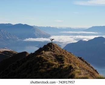 Dancer in Wanaka, New Zealand on Roys Peak