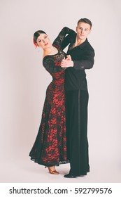 The dancers of ballroom dancing