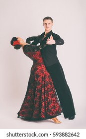 The dancers of ballroom dancing