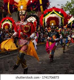 Dancers in the Guelaguetza; Oaxaca, Mexico. 05/07/2019