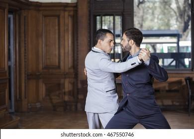 Dancers Performing Argentine Tango