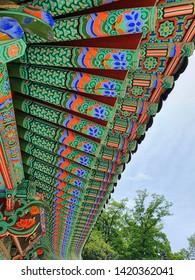 Dancheong of Yongmun Temple, located in Yangpyeong