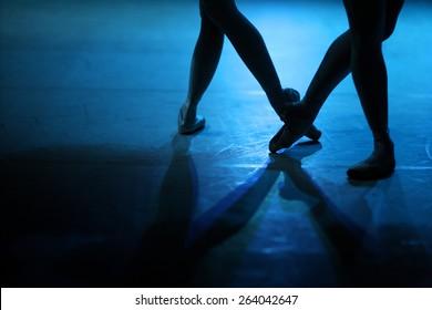 Dancing ballerinas feet