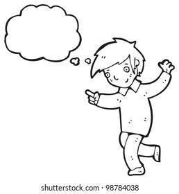 dancing boy cartoon