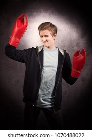 A dancing boy with lobster claw