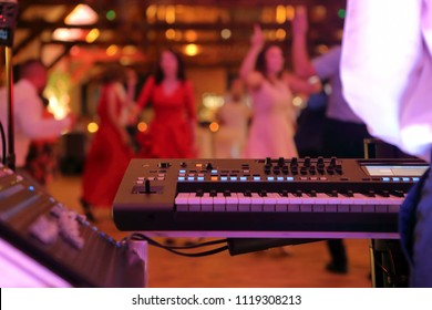 Dancing couples during party event or wedding celebration